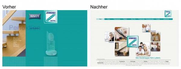 Webseiten Relaunch: www.jenniches-treppen.de