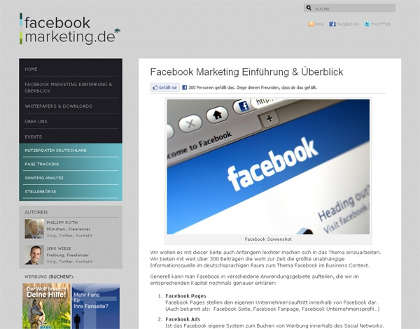 Linktipp: Facebookmarketing.de