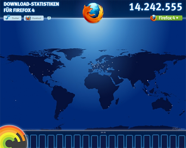 Firefox4: Download Weltkarte